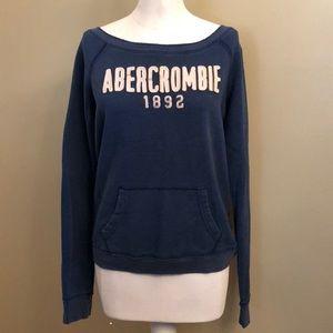 Worn 1x-A&F-Wide Neck Sweatshirt